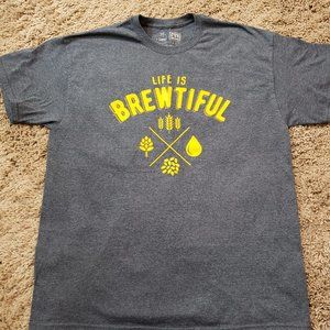 Other - Beer t Shirt Life is Brewtiful. Size XL